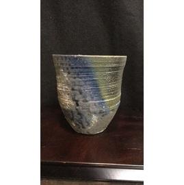 莫迦焼締 焼酎カップ 黒